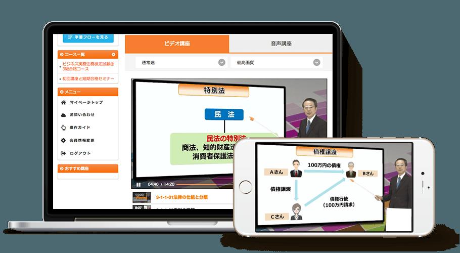 ビジネス実務法務検定試験® 3級・2級セットコース[2019年試験対応]